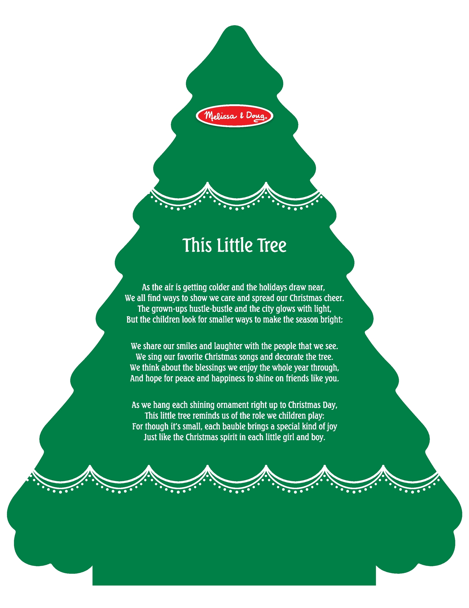 Melissa Doug Wooden Advent Calendar Magnetic Christmas