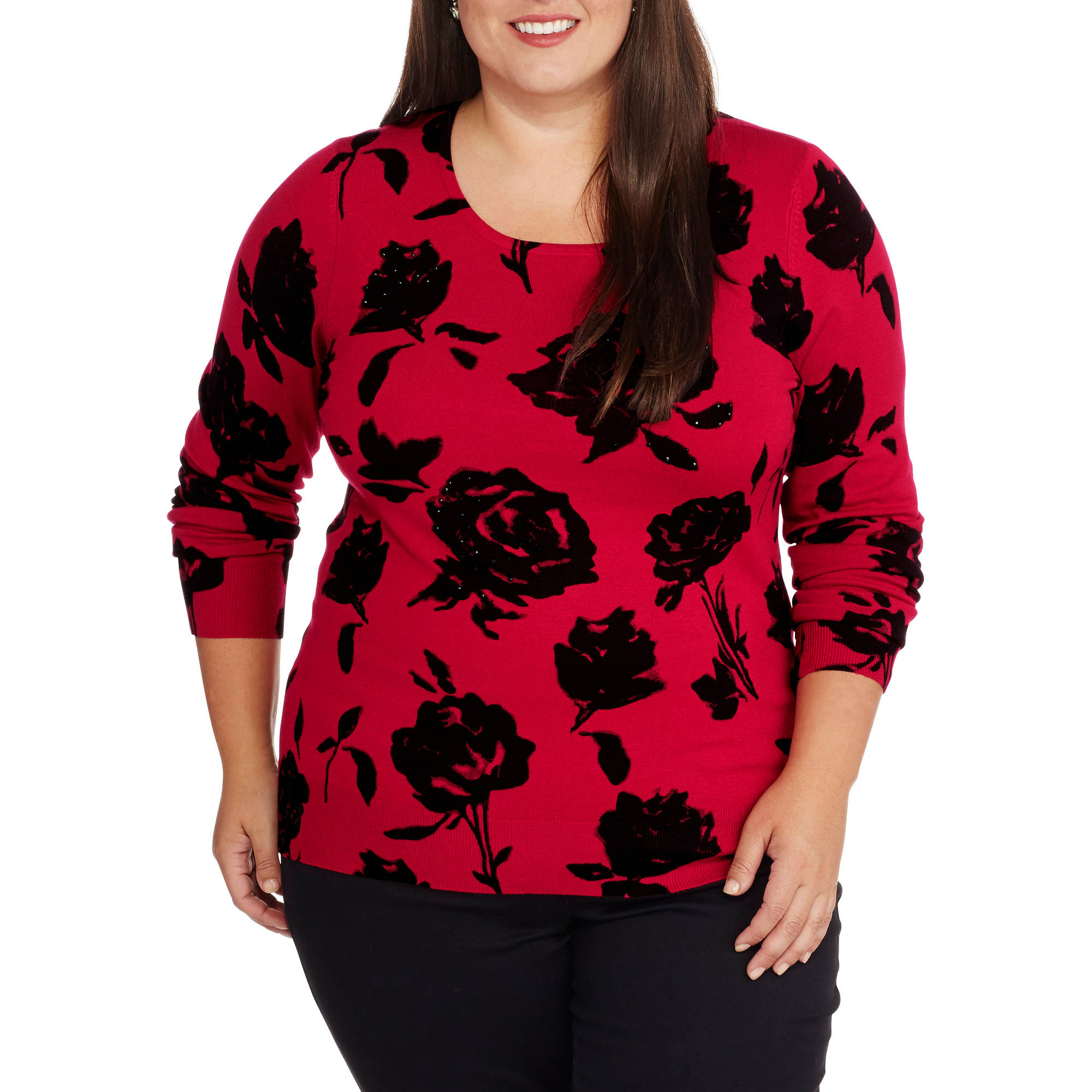 George Women's Plus Pullover Sweater
