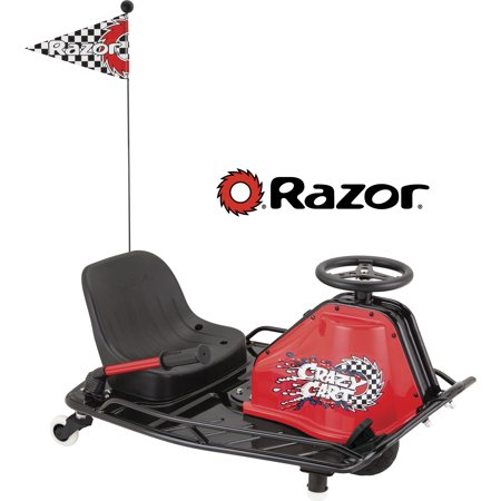 Razor 24 Volt Electric-Powered Drifting Crazy Cart - For Ages 9 and Up and Speeds Up to 12