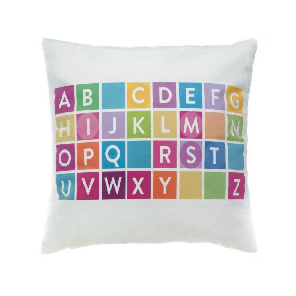 Awesome Throw Pillows For Couch, Colorful Alphabet Decorative Square Accent Throw  Pillow