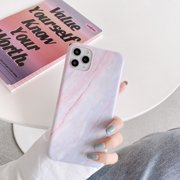 """iPhone 11 Case, MINI-FACTORY Slim Fit Cute Marble Case Protective Cover for Apple iPhone 11 6.1"""" Inch 2019 - Light Pink"""