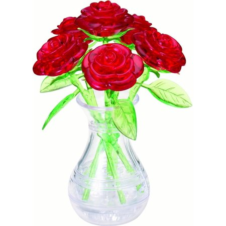 Standard 3D Crystal Puzzle - Roses in a Vase