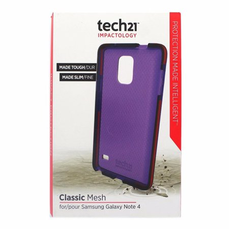Tech21 Classic Mesh Case Cover for Samsung Galaxy Note4 - Purple/Brown