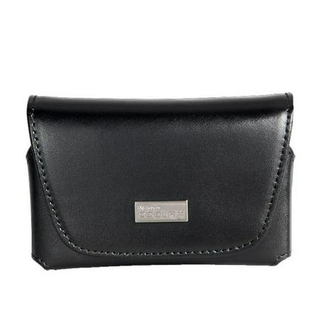 Nikon Coolpix S Series Black Leather Case
