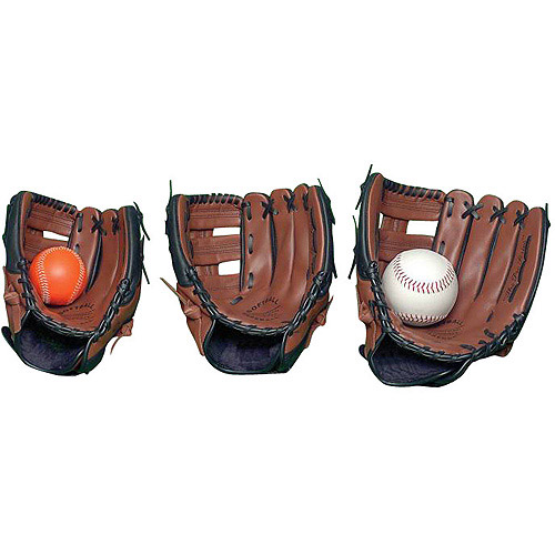 Sportime Genuine Leather Baseball Glove, Left-Handed