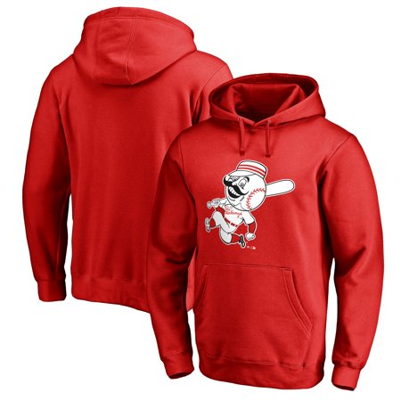 Cincinnati Reds Fanatics Branded Cooperstown Collection Huntington Big & Tall Pullover Hoodie - Red