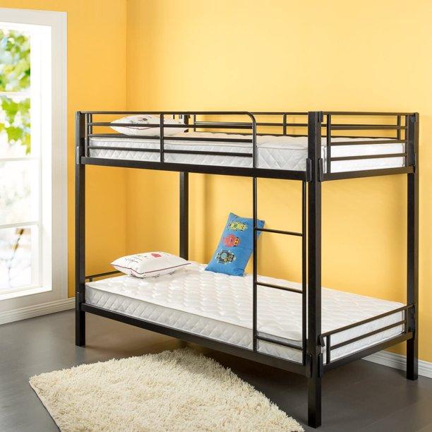 Zinus 6 Inch Foam And Spring Twin Mattress 2 Piece Set For Bunk Beds Mattress In A Box Walmart Com Walmart Com
