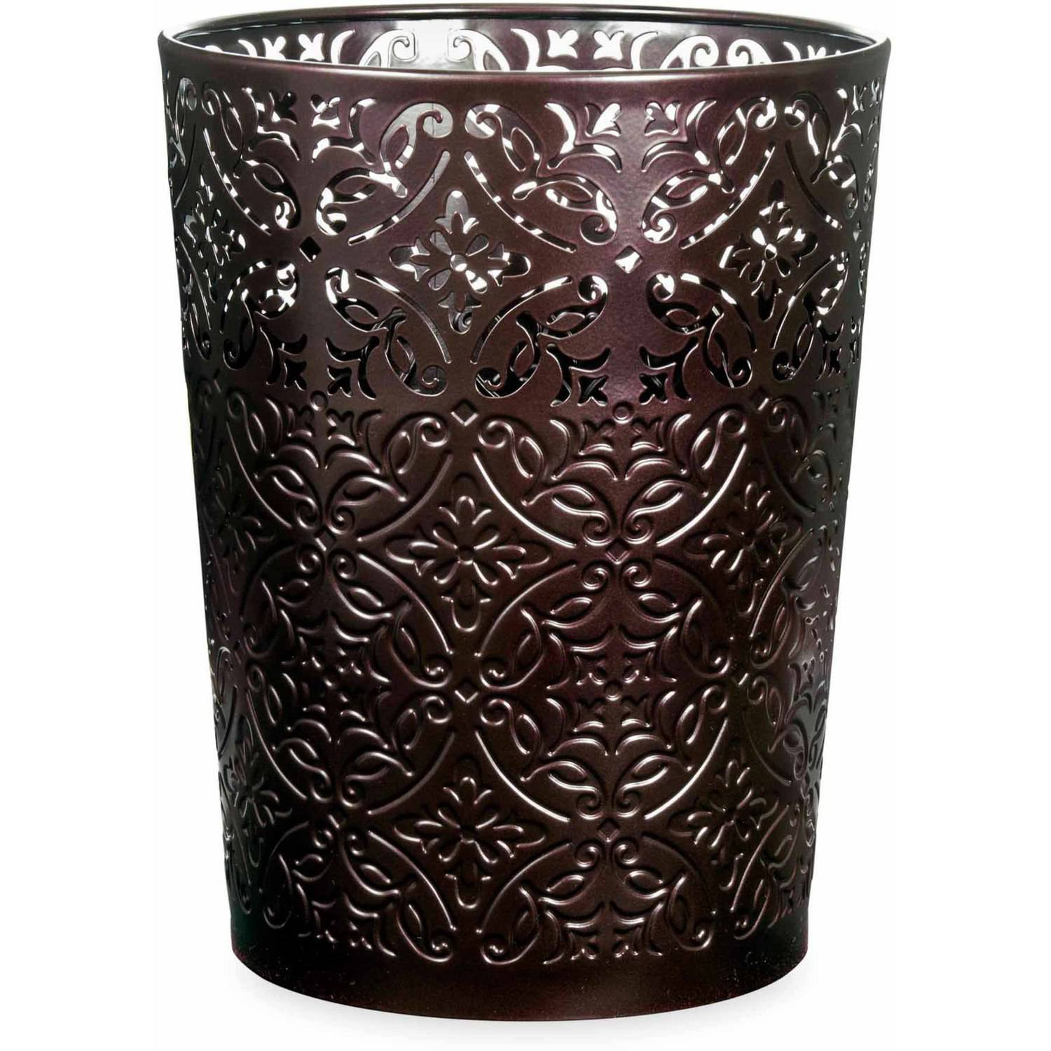 Better Homes and Gardens Galleon Wastebasket, Bronze