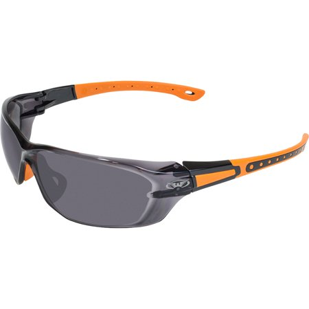 Global Vision Eyewear Black Hills 1-1 SM Hills Edition 1 Safety Sunglasses, Smoke Lens, Frame, Black