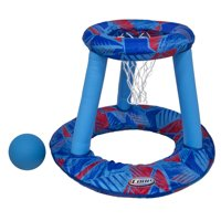 """27.5"""" Blue and Red Inflatable Swimming Pool Floating Basketball Game"""