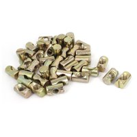 50pcs Crib Barrel Bolts Cross Dowel Slotted Furniture Nut