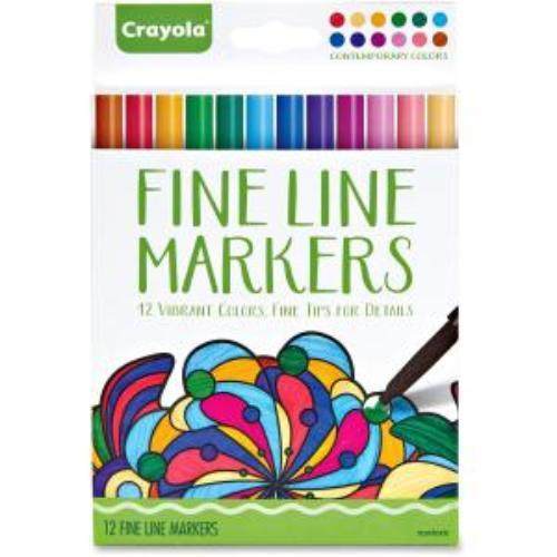 Crayola Contemporary Colors Fine Line Markers Set - Assorted Ink - 12 / Set (cyo-587714)