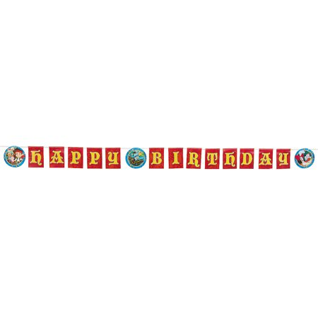 Jake & Neverland Pirates Banner for Birthday - Party Supplies - Licensed Tableware - Misc Licensed Tableware - Birthday - 1