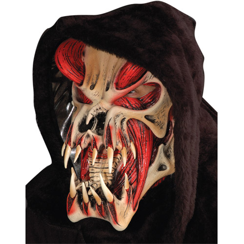 Predator Red Halloween Mask Adult Halloween Accessory