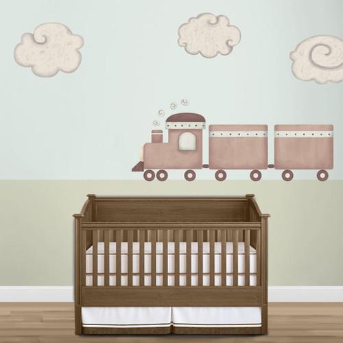 My Wonderful Walls Train and Cloud Wall Stickers by My Wonderful Walls