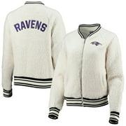 Baltimore Ravens New Era Women's Sherpa Full-Zip Jacket - Cream