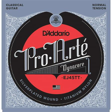 D'Addario EJ45TT ProArte DynaCore Classical Guitar Strings, Titanium Trebles, Normal