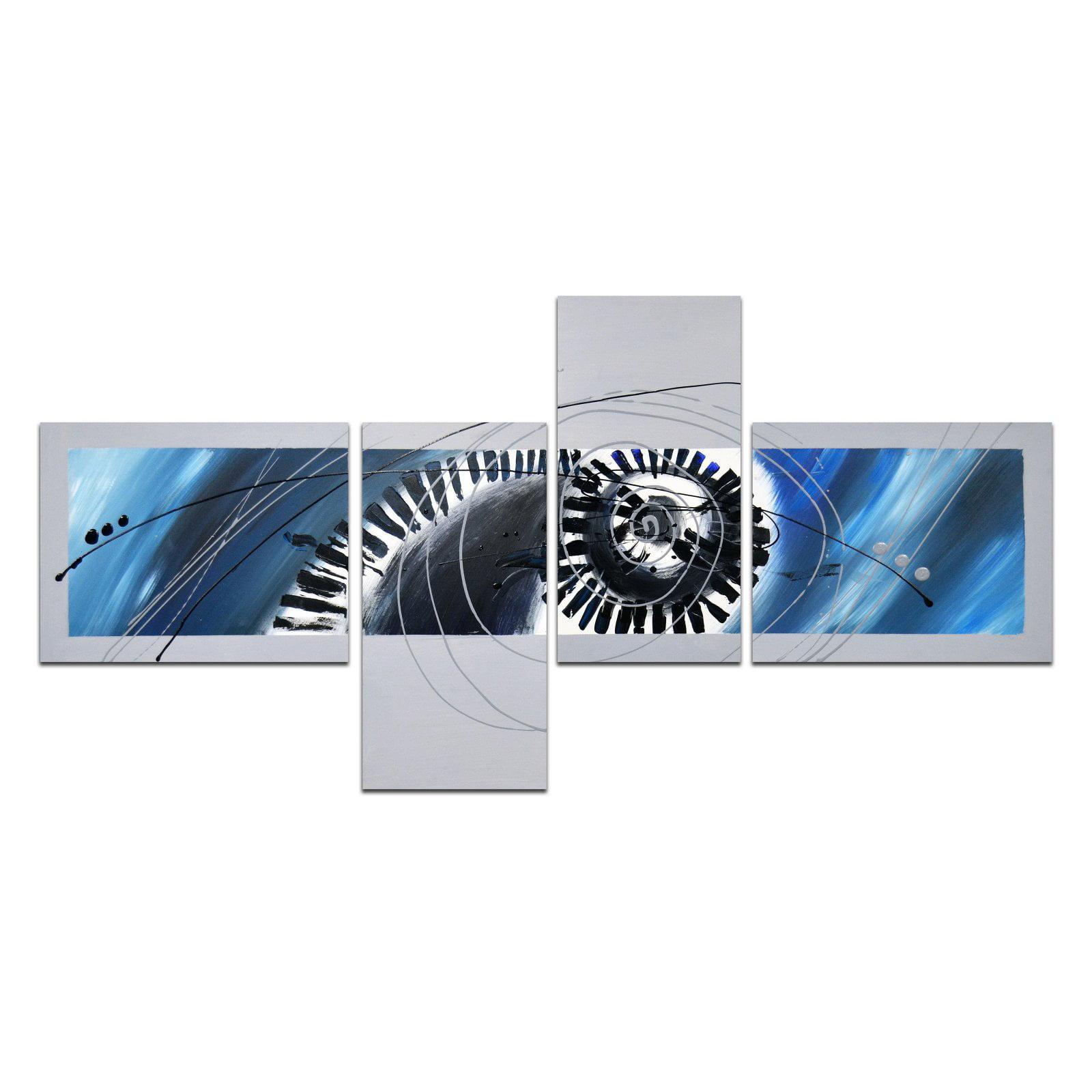 OMAX Decor Spiraling Circles Wall Art - Set of 4
