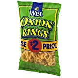 Wise Onion Rings 4.75 Ounce Bag Pack of 3 by Wise