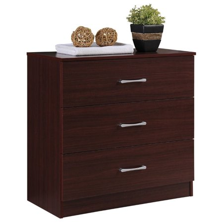 Pemberly Row 3 Drawer Chest in Mahogany ()