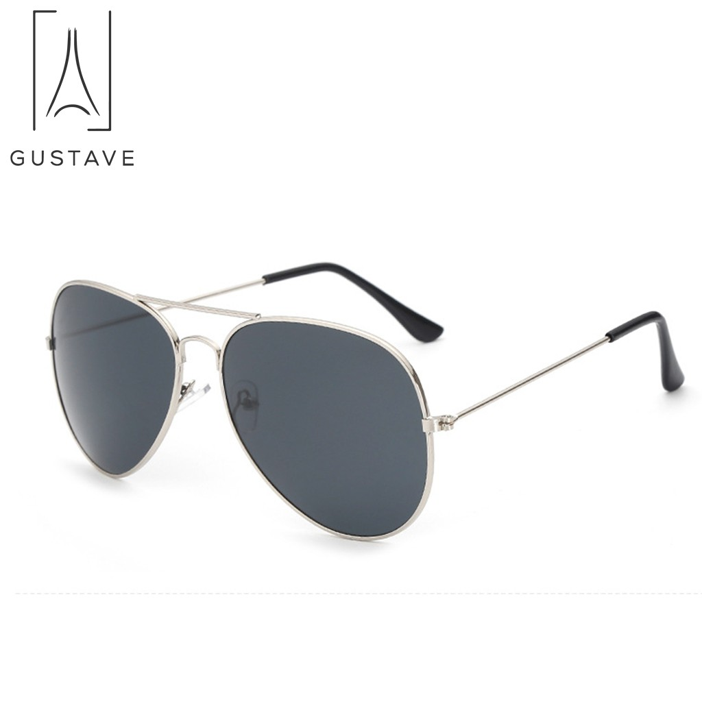 Polarized Square Sunglasses Men Women Mirror Lens UV400 Protection Driving Sun Glasses silver