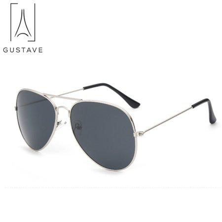 GustaveDesign Fashion Sunglasses for Men & Women Aviator Polarized Metal Mirror UV 400 Lens Protection Sun (Mens Aviator Sunglasses Polarized)