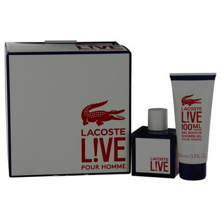 Lacoste Live Set-Edt Spray 3.4 Oz & Shower Gel 3.4 Oz By Lacoste