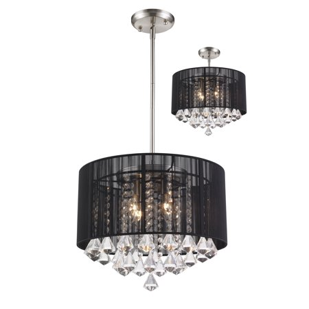 New zlite Product  Aura Collection 4 Light Pendant in Brushed Nickel Finish Sold by VaasuHomes Aura 1 Light Pendant
