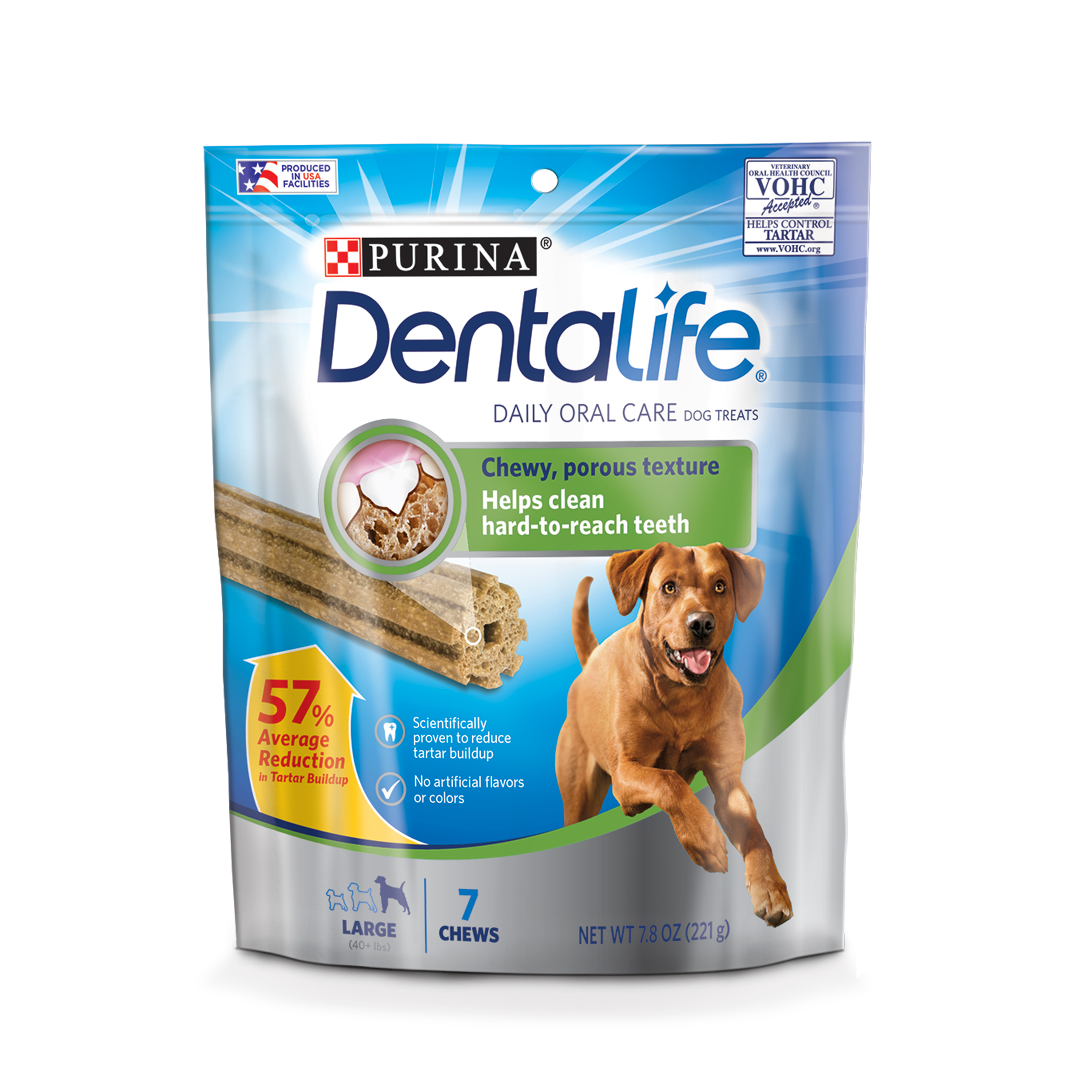 Purina DentaLife Daily Oral Care Large Dog Treats - 7 ct. Pouches