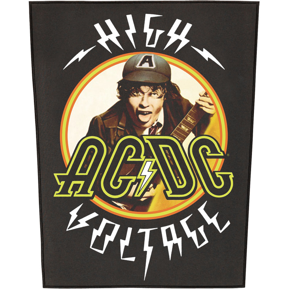 AC/DC Men's High Voltage Back Patch Black