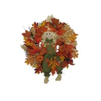 Deals on Harvest Wreath with Smiling Scarecrow