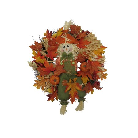 Harvest Wreath with Smiling Scarecrow (Way to Celebrate) - Celebrate Halloween