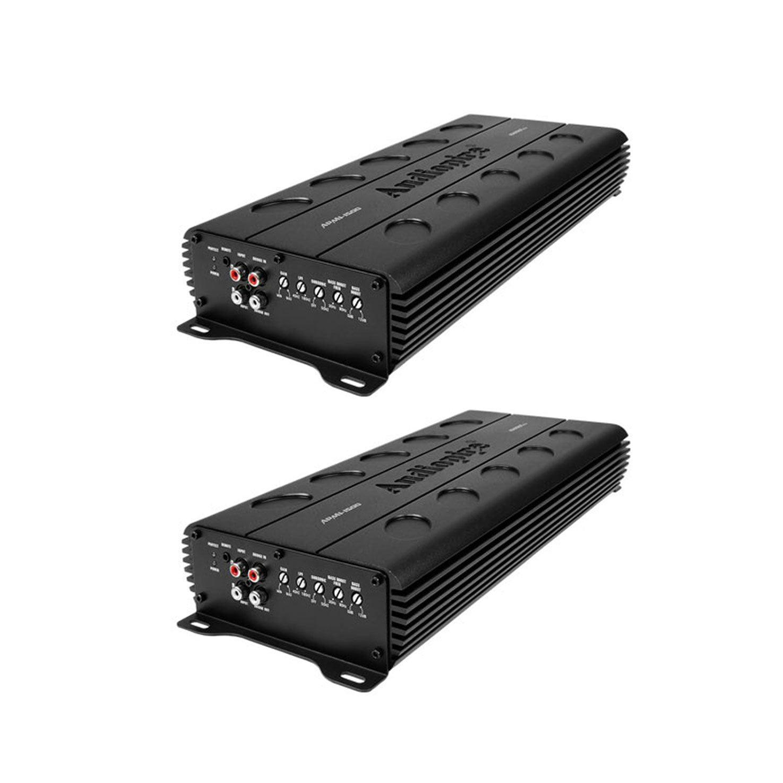 Audiopipe APMI-1500 W MOSFET Monoblock Amp Car Audio Speaker Amplifier (2 Pack)