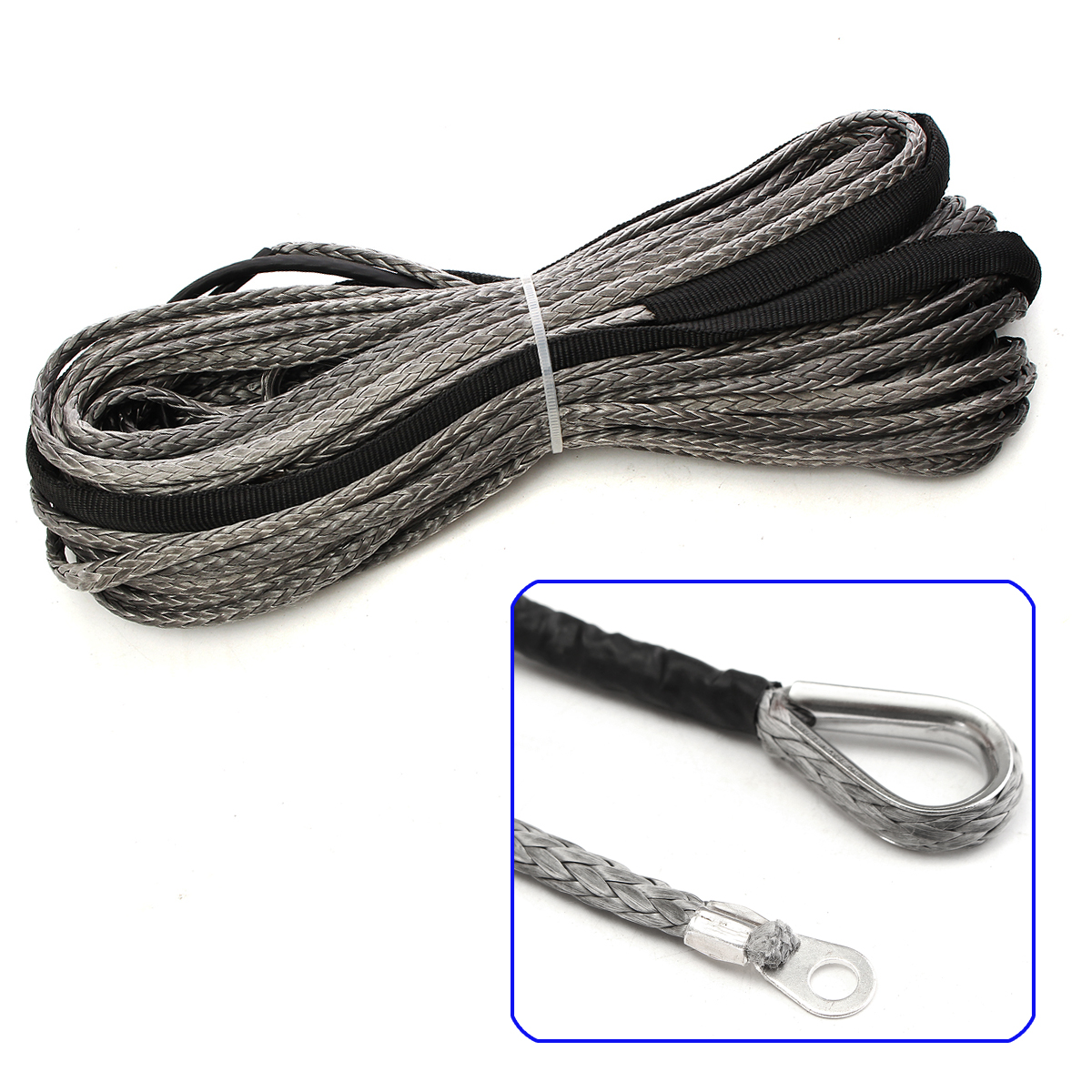 Sheath for ATV UTV SUV 3//16 x 65 Inch 5500LBS Synthetic Winch Rope Cable Line