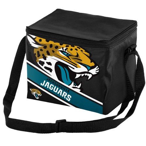 Forever Collectibles Big Logo Stripe 6 Pack Cooler, Jacksonville Jaguars
