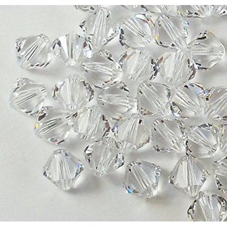- 4mm Clear Swarovski Bicone Beads Xillian 144 Piece By Crystal Passions Distributor of Swarovski Elements Crystals Made in Austria Xillion Cut 5328