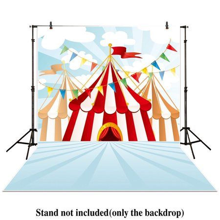 GreenDecor Polyster 5x7ft photography backdrops circus stratus Playground carnival Carousel Birthday Flag banner photo studio background newborn baby photocall