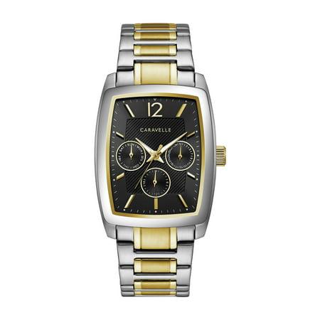 Caravelle Men's Barrel Chronograph Two-Tone Gold Stainless Steel Bracelet Dress