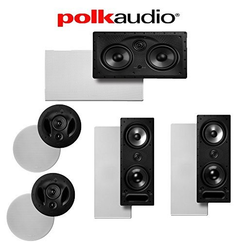 (2) Polk Audio 90-RT + (2) Polk Audio 265-LS + (1) Polk Audio 255C-LS 5.0 High Performance In-Wall   In-Ceiling Home... by Polk Audio