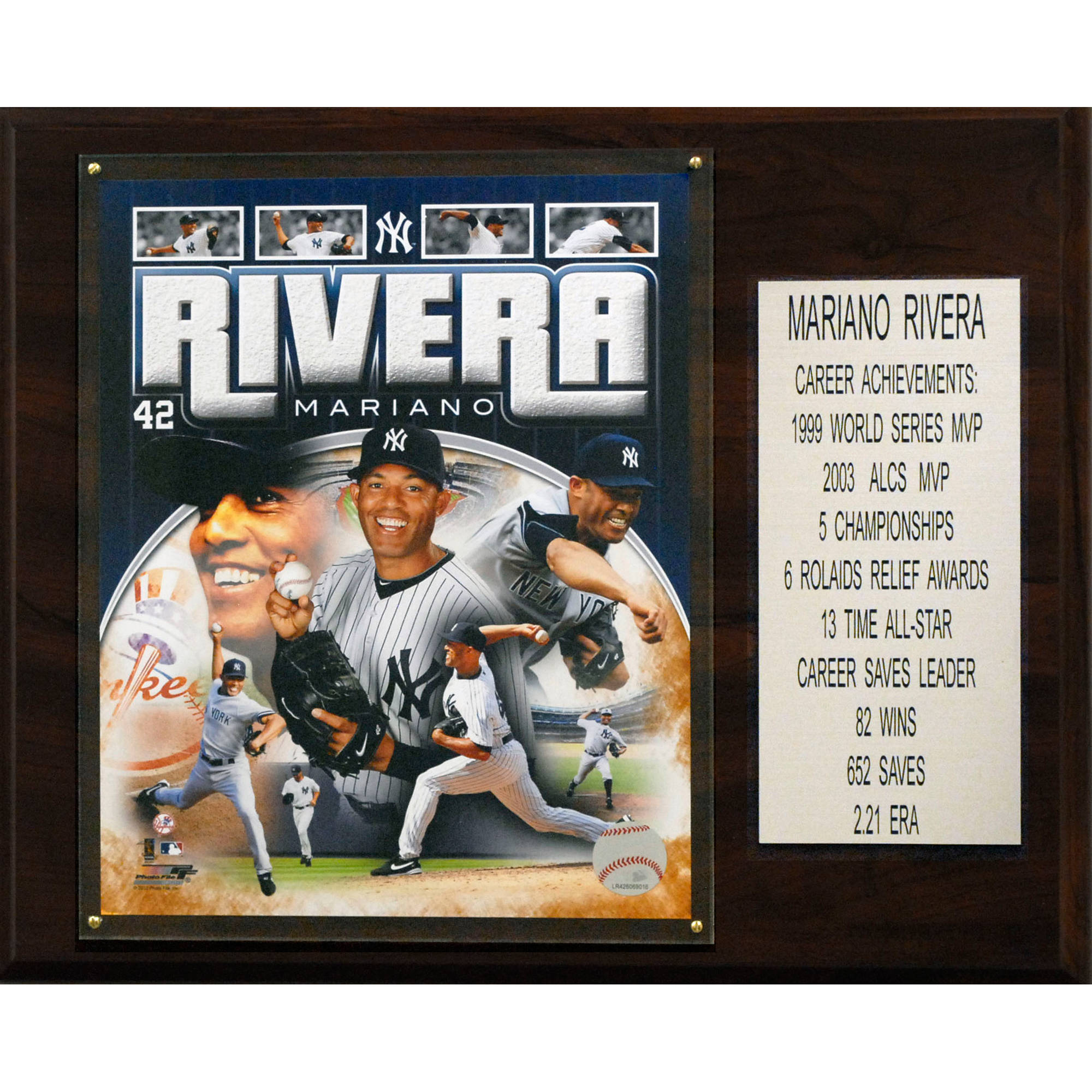 C&I Collectables MLB 12x15 Mariano Rivera New York Yankees Career Stat Plaque