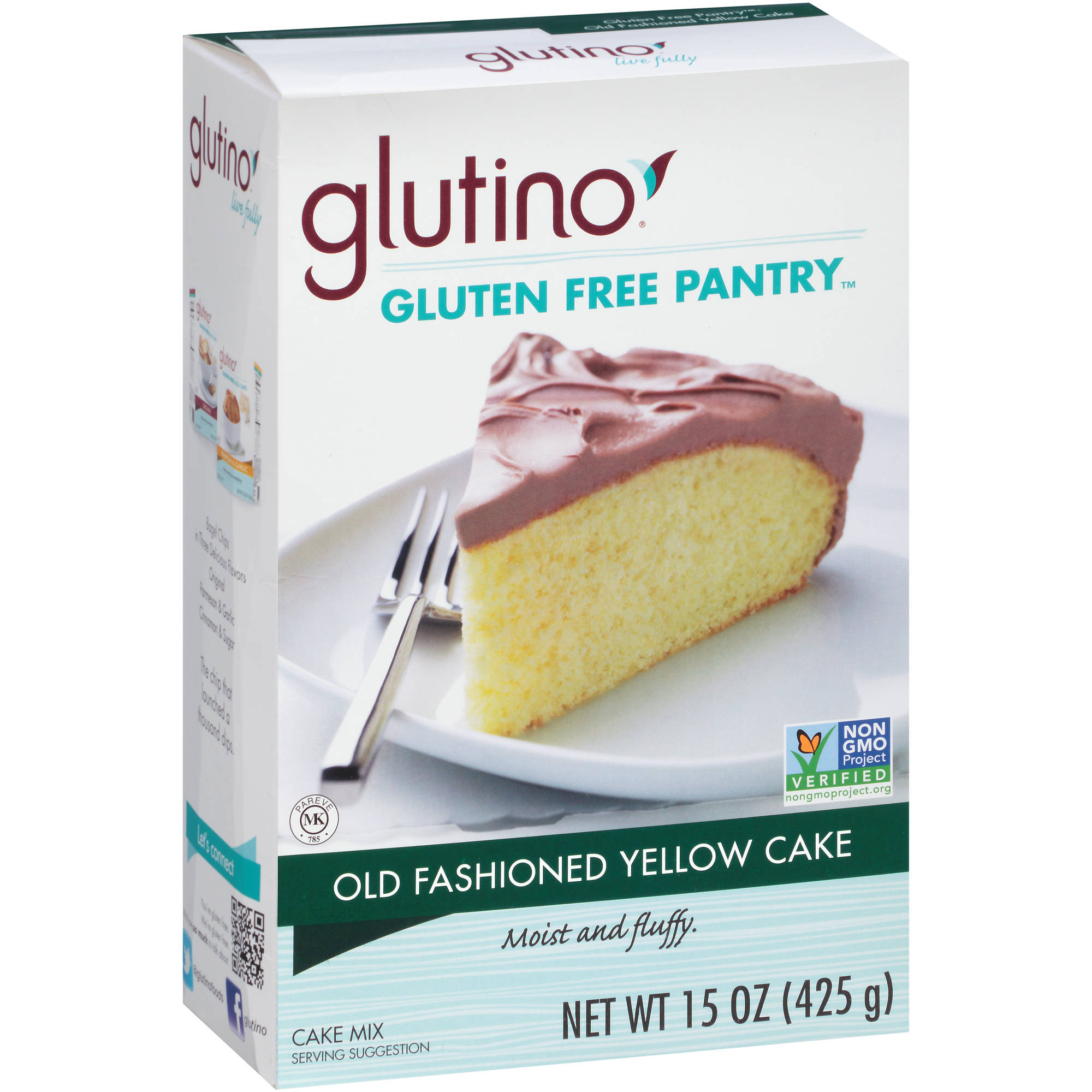 Glutino Gluten Free Pantry Old Fashioned Yellow Cake Mix, 15 oz