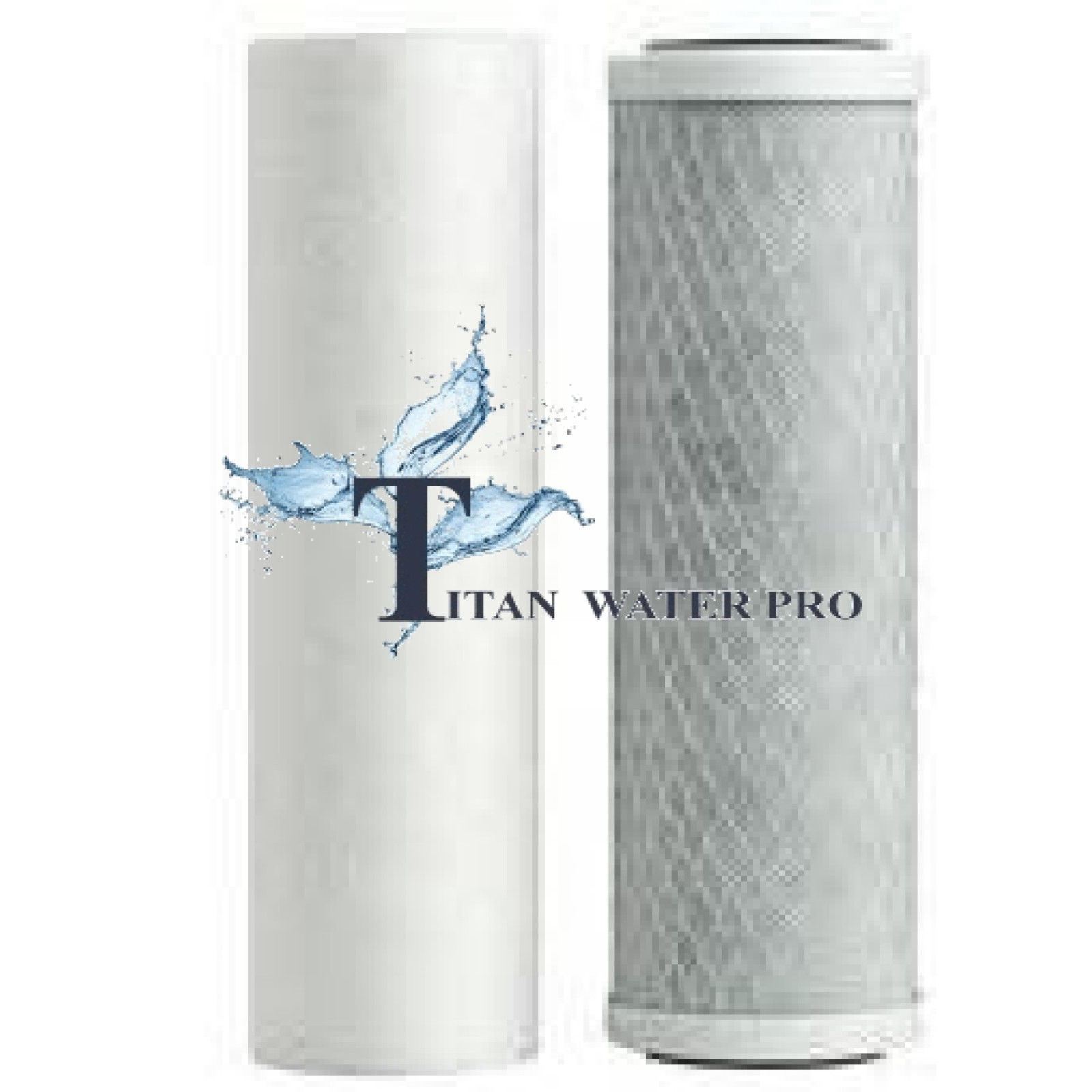 Water Filter 2 PC Set Sediment/Carbon Filter - Under Sink-CounterTop-RO Filters