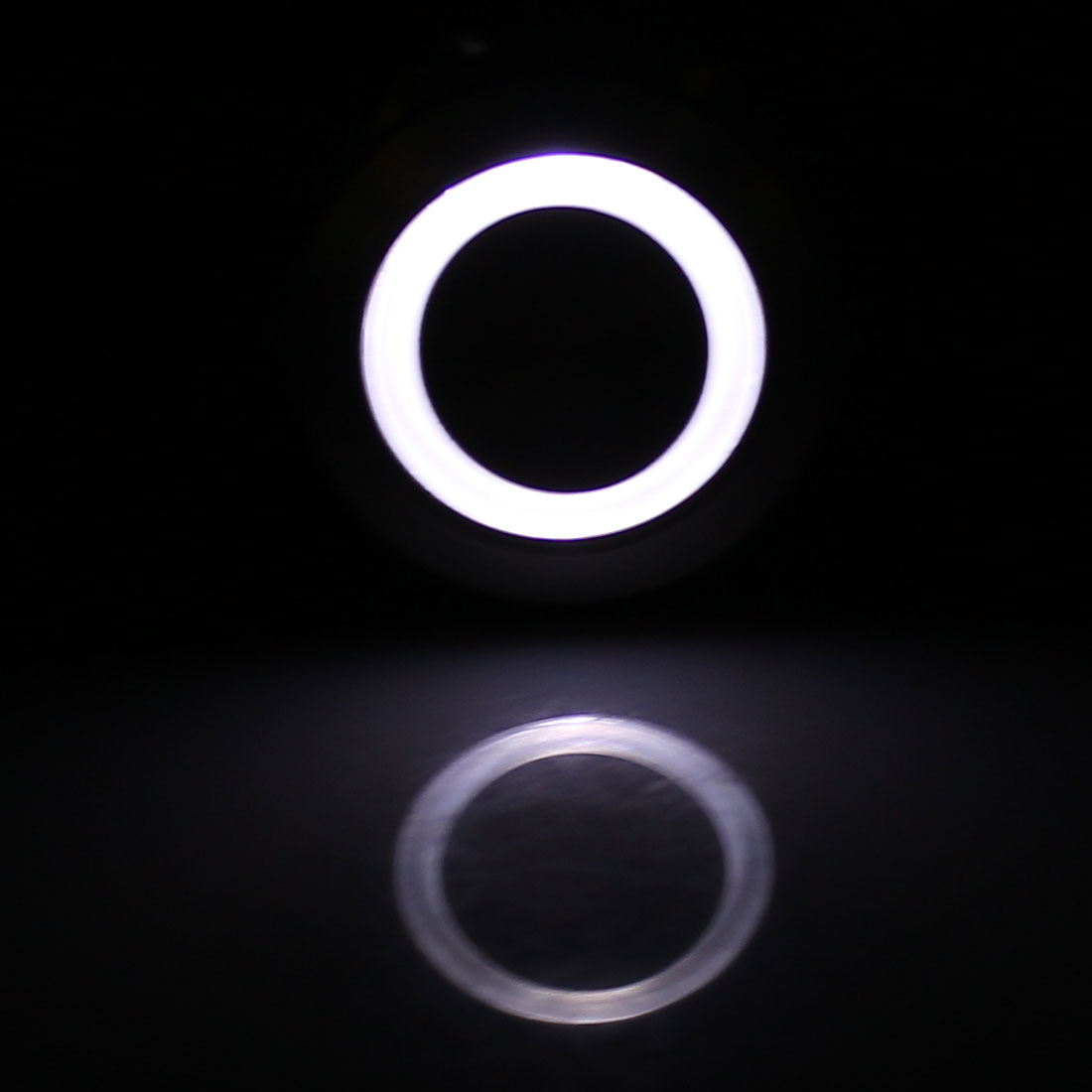24V 25mm Thread Dia White LED Angle Eyes Momentary Metal Pushbutton Switch - image 3 of 4