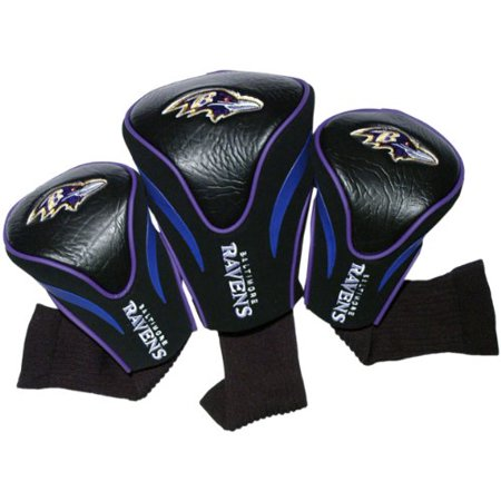 NFL Baltimore Ravens Golf Contour Head Covers, Set of 3