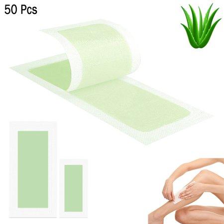 50 Ct Wax Strips Hair Removal Kit Underarms Bikini Face Legs Facial & Body Sizes