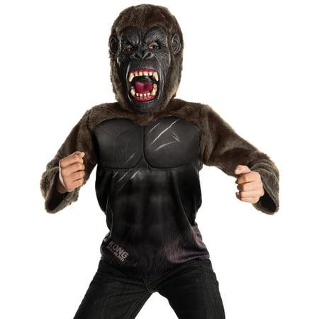 Kong Skull Island Boys Deluxe Muscle Chest King Kong Gorilla Costume