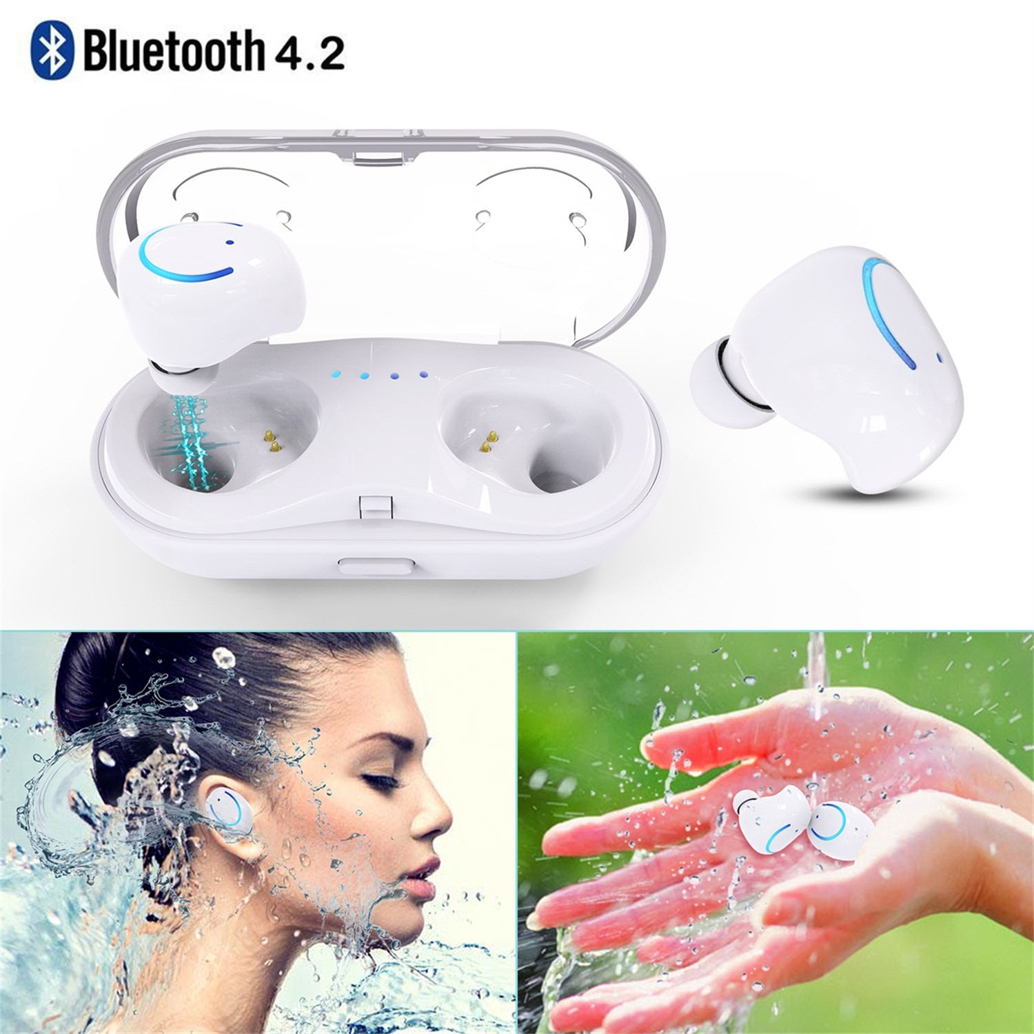 AGPtek Mini True Wireless Bluetooth 4.2 Stereo Headphone Earbuds In-Ear Earbud Portable Charging