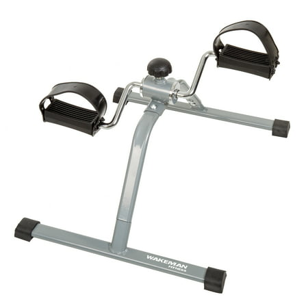 Portable Fitness Pedal Stationary Under Desk Indoor Exercise Machine Bike for Arms, Legs, Physical Therapy or Calorie Burner by Wakeman
