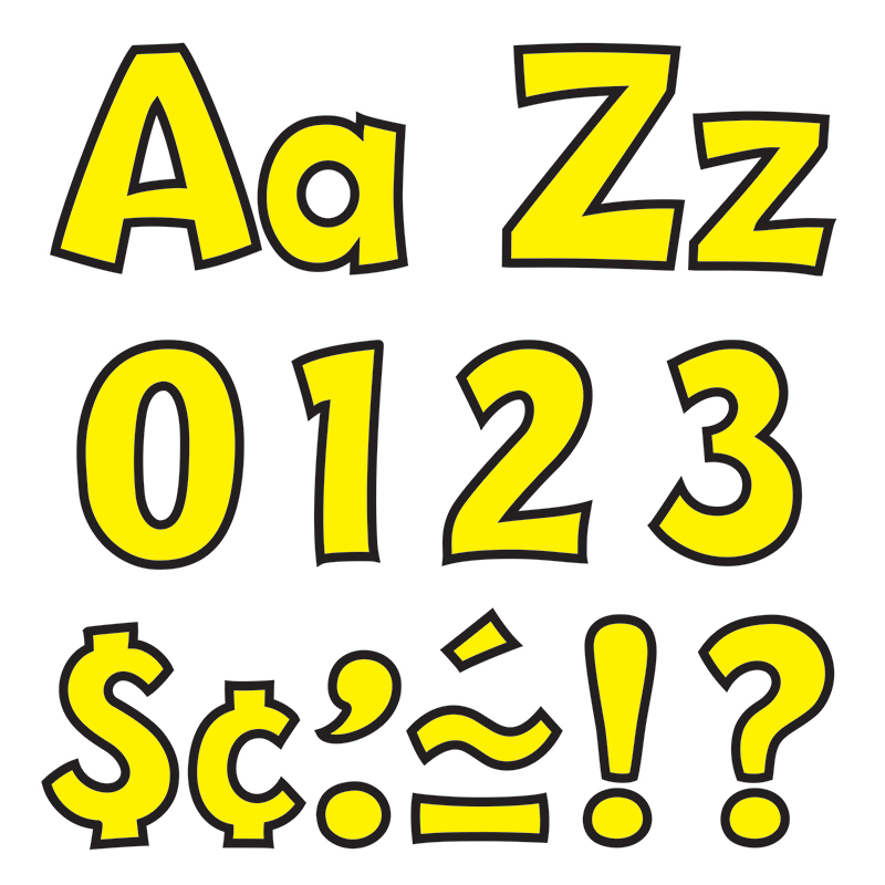 Ready Letter 4 Inch Playful Yellow - image 1 de 1