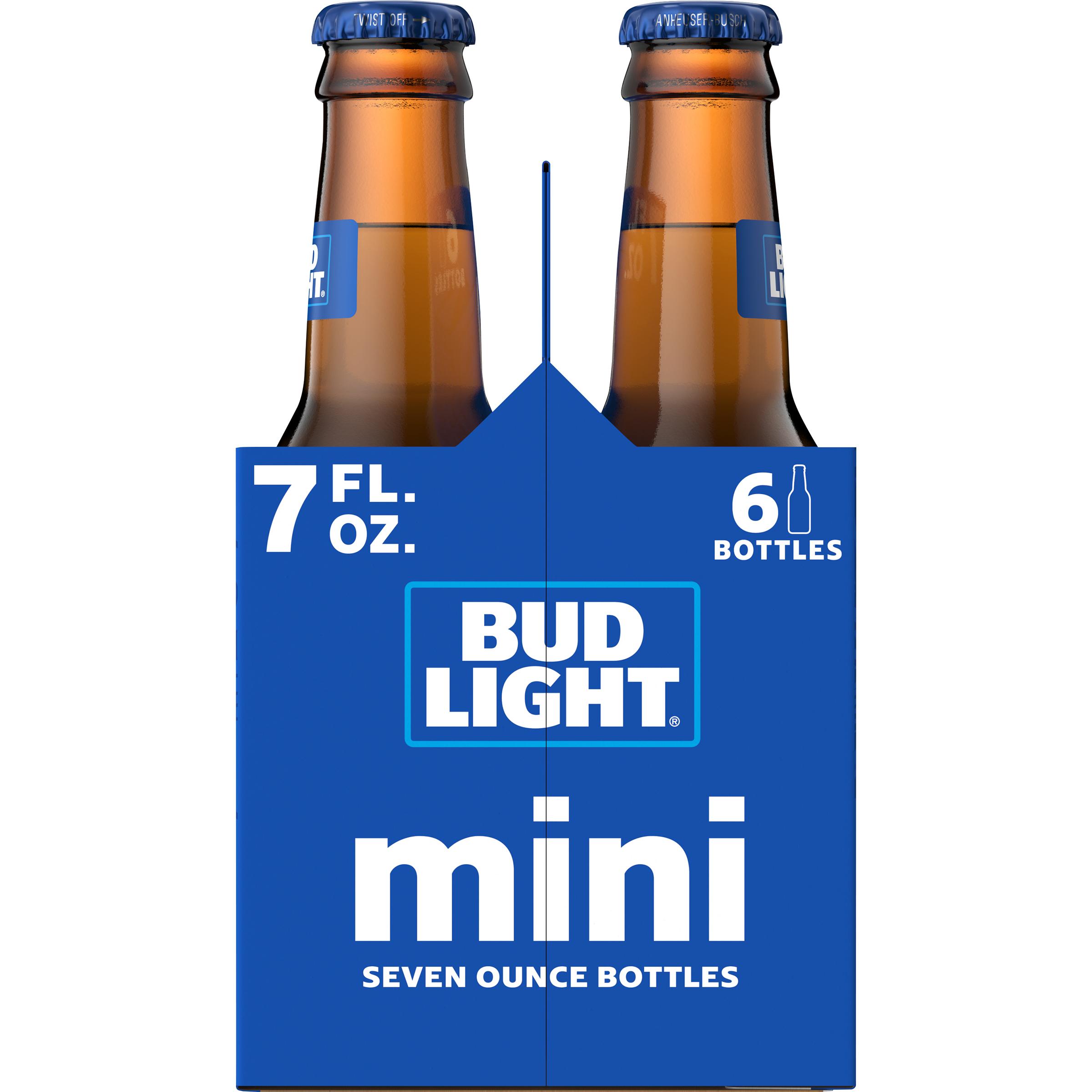 Bud Light® Beer, 6 Pack 7 fl  oz  Bottles - Walmart com